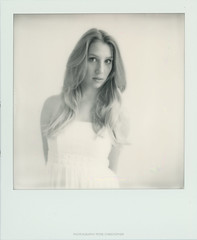Lisa_Pola (peter christopher photography) Tags: portrait woman girl polaroid sx70 femme portrt blond portraiture blonde blondine impossibleprojectfilm
