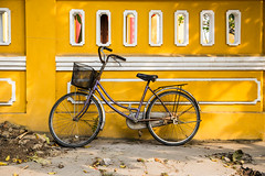 It has a Soul (Gigin - NoDigital) Tags: street light colors bicycle colorful asia objects an vietnam hoian transportation geography hoi
