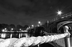 Ricnmond lock (spencerrushton) Tags: longexposure blackandwhite bw white black london texture beautiful canon river walk wide richmond spencer riverthames 1022mm manfrotto richmondlock richmonduponthames canonefs1022mmf3545usm rushton canonlens manfrottotripod richmondfootbridge richmondnight spencerrushton 760d richmondnighttime canon760d