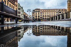 on the left...left... (ma_rohe) Tags: reflection catedral reflejo reflejos reflects charco charcos catedraldeleon leonesp
