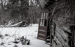My Winter Playground (cwhitted) Tags: blackandwhite bw abandoned monochrome canon eos blackwhite pittsboro chathamcounty canoneos400d canoneosdigitalrebelxti canonef28135mmisusm