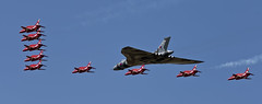 Avro Vulcan B2 and Red Arrows - 12 (NickJ 1972) Tags: hawk aviation airshow b2 vulcan bae redarrows raf t1 avro fairford riat royalinternationalairtattoo britishaerospace 2015 698 xh558 gvlcn spiritofgreatbritain