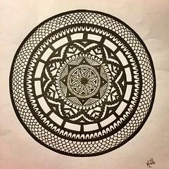 Zendala (marusaart) Tags: black art illustration sketch artist drawing mandala doodle ornament zen marker draw copic zeichnung zentangle zendala marusaart
