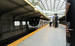 On the Move (Note-ables by Lynn) Tags: toronto ontario train subway ttc transportation converginglines yorkdalestation