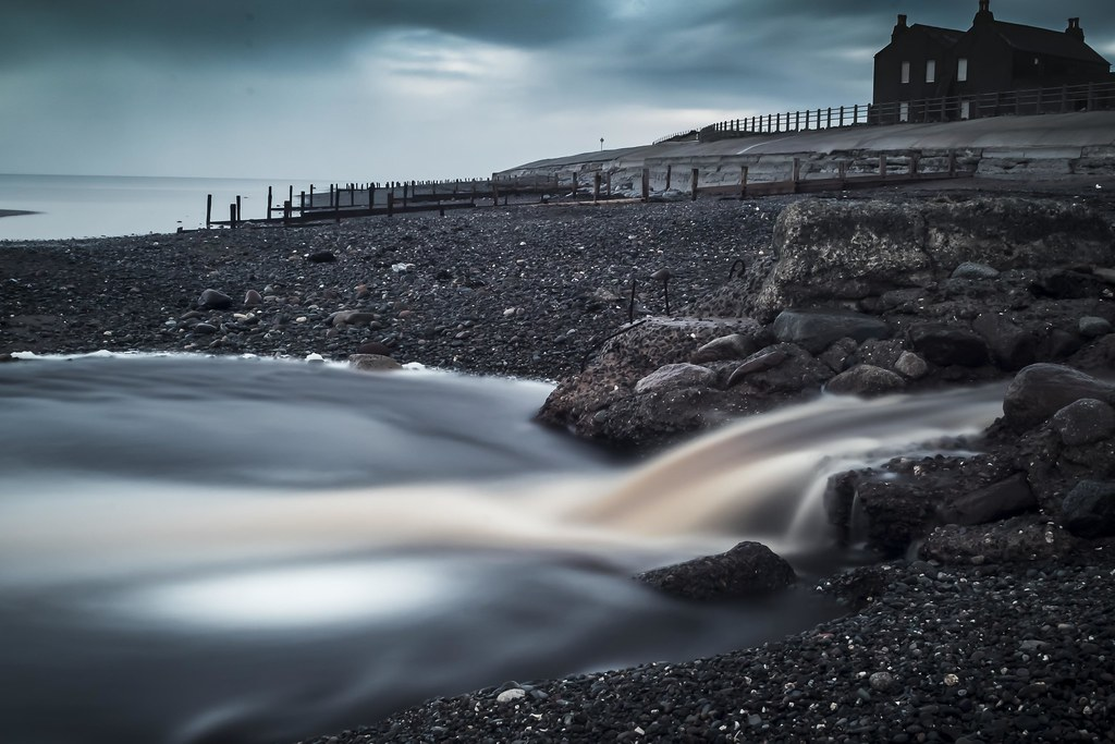 Long exposure (ND filter), Allonby, Cumbria