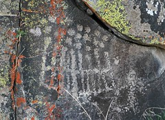 Petroglyphs / Inscription Canyon Site (Ron Wolf) Tags: california archaeology grid nativeamerican lichen dots petroglyph anthropology rockart blm parallellines anthropomorph anthromorph numic inscriptioncanyon dotdesign kawaiisu blackmountainrockartdistrict casbr193