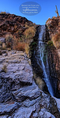 HI-RES Vantana Falls (facebook.com/bibleversephoto) Tags: blue sky 6 foothills fall water grass rock vertical sonora landscape typography for catalina waterfall high desert god tucson who matthew 5 jesus falls christian hires filled hunger will be bible resolution they easy saguaro those thirst scripture hdr 56 righteousness verse bl 2016 vantana essed