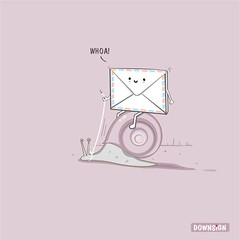 Snail Mail (DOWNSIGN) Tags: art illustration design funny mail lol humor postoffice snail doodle definition envelope phrase vector meaning hahaha pun playonwords punny downsign samomo
