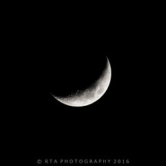 Crescent Moon 14th Jan 2016 (RTA Photography) Tags: moon crescent astrophotography lunar rtaphotography
