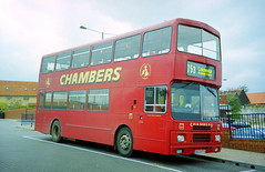 Chambers G623OTV (The original SimonB) Tags: film buses suffolk october 1999 scanned