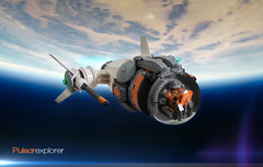 Pulsar Explorer (Brixnspace) Tags: lens lego earth space explorer dome flare spaceship exploration pulsar moc spacescene