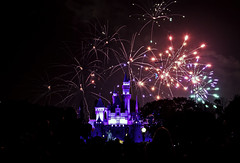 02468840-73-Fireworks Over the Happiest Place on Earth-1 (Jim would like to get on Explore this year) Tags: california people silhouette night america fireworks disneyland mickeymouse cinderellacastle