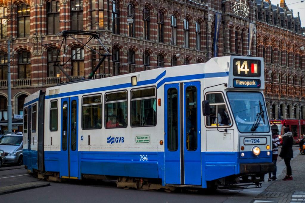 GVB Blokkendoos tram 794, Lijn 14, Nieuwezijds Voorburgwal (Don Maskerade)  Tags:
