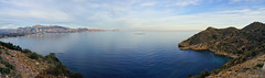 Panorama desde Sierra Helada (lagunadani) Tags: parque seascape del marina de mar mediterraneo natural sony paisaje el sierra alicante pi panoramica altea alta baja serra a7 calpe helada gelada ifach alfaz peon albir calp sierradebernia serradebernia