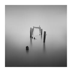 Touch of light (nielsdevisscher) Tags: uk longexposure england blackandwhite bw abandoned sussex kent jetty fineart minimal minimalistic margate