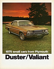 1975 Plymouth Duster & Valiant (aldenjewell) Tags: gold stripes side plymouth duster 1975 valiant decal brochure optional