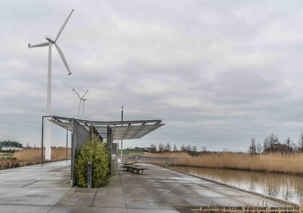 Wind Powered Public Park In Clongriffin Dublin [Father Collins Park]-110943