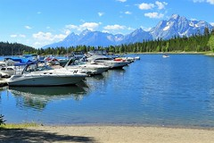 The Marina at Coulter Bay (Patricia Henschen) Tags: mountains clouds wyoming grandtetons colterbay grandtetonnationalpark jacksonlake
