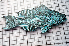 carving_a_fish_stamp4744.jpg (KristinaMariaS) Tags: printing stempel stampcarving handcarvedstamp drucken stempeln amliebstenbunt kristinaschaper