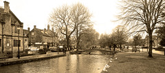 BOURTON ON THE WATER (chris .p) Tags: uk bridge trees winter england water nikon view scene cotswolds gloucestershire cotswold 2016 d610 windrush bourtononwater