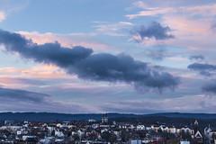 Dmmerung (maikepiel) Tags: travel sunset sky clouds germany deutschland evening abend wiesbaden cityscape colours sonnenuntergang himmel wolken farben neroberg