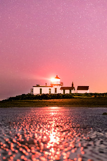 West Point Lighthouse At Night