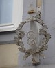 "Former hotel ""Zum Hirsch"" (:Linda:) Tags: germany town er thuringia wreath oakleaf initial meiningen flagholder"