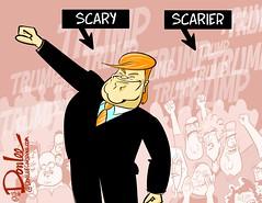 0316 trumpshirts cartoon (DSL art and photos) Tags: election caricature donaldtrump republicans masses editorialcartoon demagogue donlee drumpf