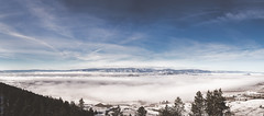 Valley Fog (eric.vanryswyk) Tags: christmas city blue trees sunset sky panorama cloud sun white house lake snow canada mountains tree water fog clouds forest river landscape outside 50mm dawn frozen twilight nikon long exposure angle cloudy outdoor dusk okanagan westbank hill wide over columbia hills valley british kelowna february nikkor f18 50 depth 2016 d610