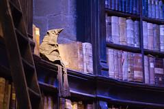 Sorted (Cathy G) Tags: uk hat canon office harrypotter books shelf hogwarts shelves hertfordshire watford headmaster dumbledore lseries sortinghat dumbledores canon24105mm canon7d harrypotterstudiotour