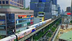 Sukhumvit Line (Jinky Dabon) Tags: bangkok transportation bts sukhumvit sukhumvitline bangkokmasstransitsystem fujifilmfinepixhs35exr btsline