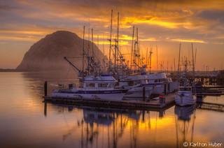 Morro Bay Sunset - 8705_06_07_08_09_HDR 2