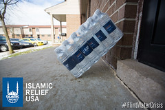 Islamic Relief USA branded water bottles
