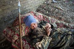 Spearman (Jaskiran Singh Batra) Tags: street blue portrait beard photography nikon oldman moustache camouflage rest turban sikh punjab winters spear singh spearman nihang jaskiransinghbatra