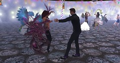 Carnival in Avilion (Osiris LeShelle) Tags: life carnival costumes party cloud fun colorful dancing tags beta add secondlife ballroom second nexus avilion