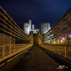 So Close/ The Finish Line (Tim van Zundert) Tags: world bridge castle heritage wales night square 1 evening site long exposure suspension sony voigtlander north historic edward national trust walls fortress llandudno hdr conwy own 1x1 21mm deganwy ultron a7r