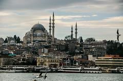 Maybe this time I'll be lucky (Melissa Maples) Tags: water skyline turkey nikon asia trkiye istanbul mosque nikkor strait bosphorus vr afs  18200mm  f3556g  18200mmf3556g d5100