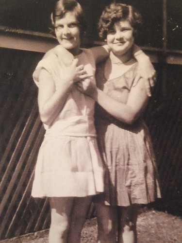 "My mother, Violet Bryant, on the right. With her sister Elsie. Circa 1929. Honolulu, HI. ""A long, long time ago, I can still remember how the music used to make me smile. """