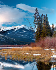 Mt. Bourgeau (Tim Harding) Tags: winter lake landscape alberta banffnationalpark vermilionlakes