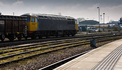 On hire to DCR, Class 56 no 56081 waits to depart Derby on 14-03-2016 with an empty scrap train for Stockton. (kevaruka) Tags: uk greatbritain winter england sun color colour heritage history colors sunshine station weather composition train canon eos march flickr colours unitedkingdom derbyshire sunny trains historic explore trainstation gb 5d locomotive frontpage derby freight britishrail sunnyday freighttrain eosdigital 2016 drs colas networkrail class37 derbystation class56 56081 directrailservices canon5dmk3 5dmk3 5d3 eos5dmk3 5diii thephotographyblog canon70200f28ismk2 canoneos5dmk3 ukrl 14032016