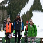 Red Mountain Fidelity BC Cup GS - U18 Podium March 4/16 - left to right: Kristina Natalenko, Zoe Belczyk, Katie Fleckenstein: PHOTO CREDIT: Martin Tichy