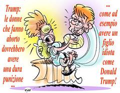 Perle-da-Pirla (Moise-Creativo Galattico) Tags: trump vignette satira pirla attualit moise giornalismo aborto editoriali moiseditoriali editorialiafumetti