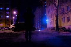 Prostrate (alexwinger) Tags: street light men buildings evening nikon violet lr