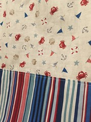 (crafty_r) Tags: beach seaside sand scatter fabric nautical makower