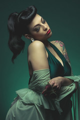 DSC_3790 (Lopshire Photography) Tags: beauty fashion ink hair model glamour nikon nj makeup sigma retro tattoos actress rockabilly photostudio hairstyle pinup starlet eastcoast hunterdoncounty 3leggedthing bumperbangs savageuniversalcorporation
