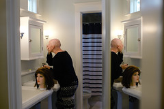 Quite Honestly | Lindsay (sowenderful) Tags: morning woman reflection hair mirror women bald makeup honest honesty honestly trial challenge struggle select routine nohair alopecia baldwomen