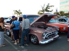 Always a crowd around this 57 Chevy . The color (  Canyon Coral  )  is a factory stock color  for 1957 Chevrolet but It's really rare to see it (Bob the Real Deal) Tags: truck cool pickup fresno friday rare 1957chevy rarecolor 1957chevroletpickup fridaynightcruise canyoncoral 1957chevrolet3100 hotrodsfresno rodsonthebluff hotrodcoalition