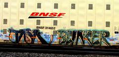 task - blinker (timetomakethepasta) Tags: seattle train graffiti blink freight bnsf task blinker autorack