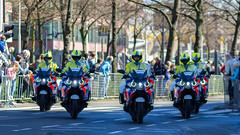 Police Angel Eyes, Rotterdam, 20160410 (G  RTM) Tags: rotterdam cops police motorcycle politie rotterdammarathon angeleyes vformation policeescort