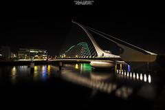 Samuel Backett Bridge-Dublin (OpOppaPol) Tags: street dublin streetart art beautiful night landscapes fantastic strada ngc paesaggi notte dublino fantastico pontile canon6d